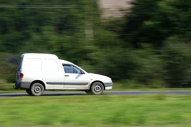 Van speed stock photo