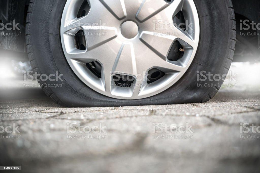 Van-Reifen-Aufschlüsselung hautnah – Foto