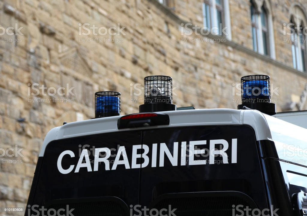 Van vehicle of police force in Italy - Foto stock royalty-free di Agrigento