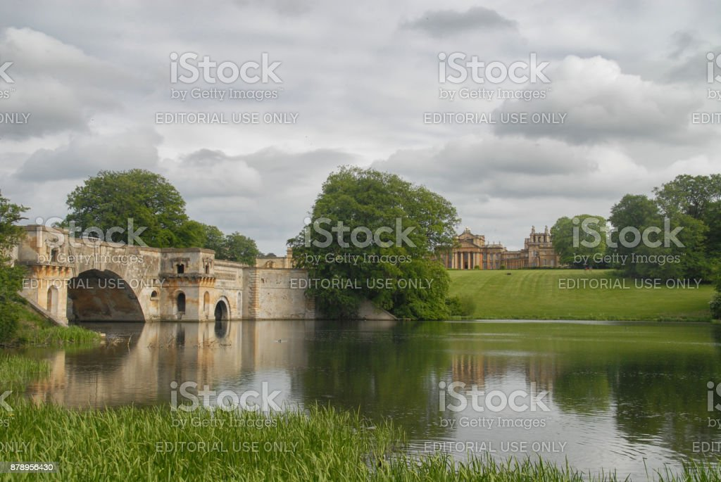 Vanbrughs Grand Bridge stock photo