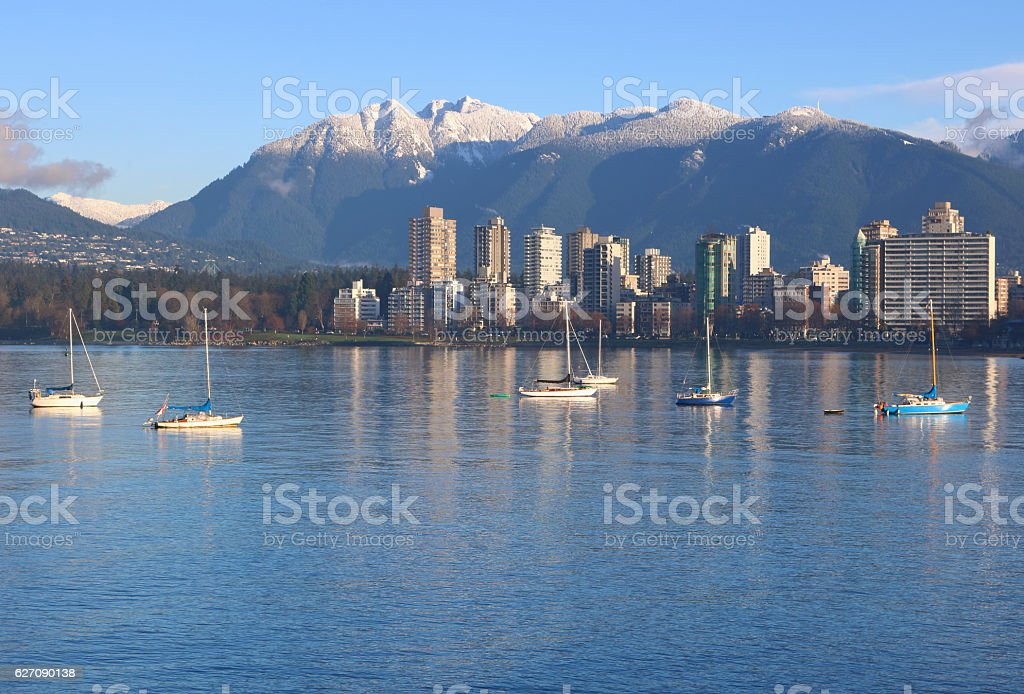 Vancouver and the Northshore Mountains stock photo
