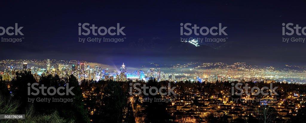 Vancouver bei Nacht vom Queen Elizabeth park – Foto