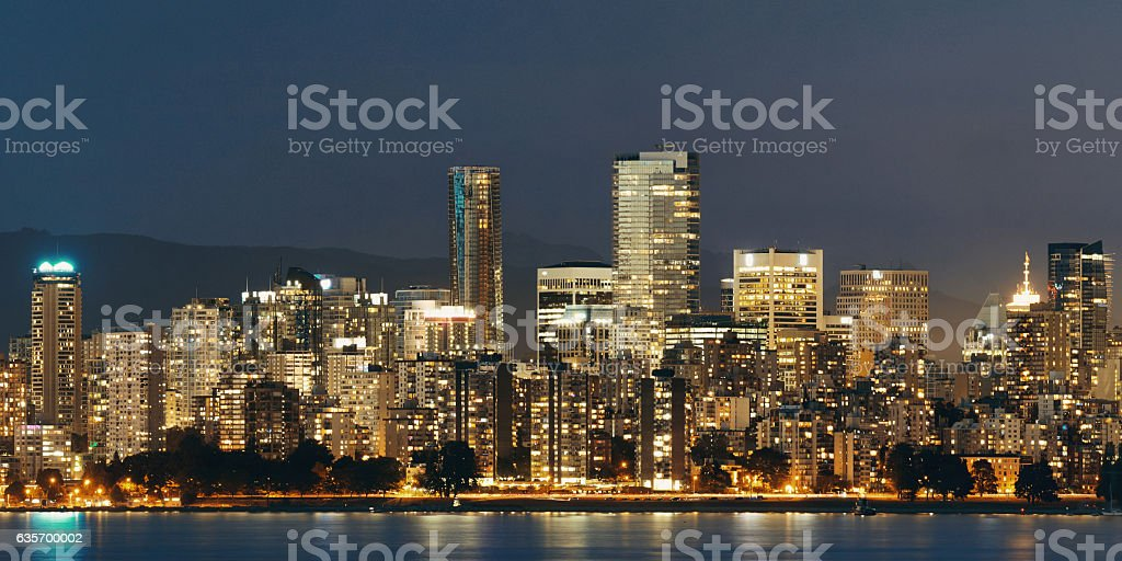 Vancouver at night royalty-free stock photo