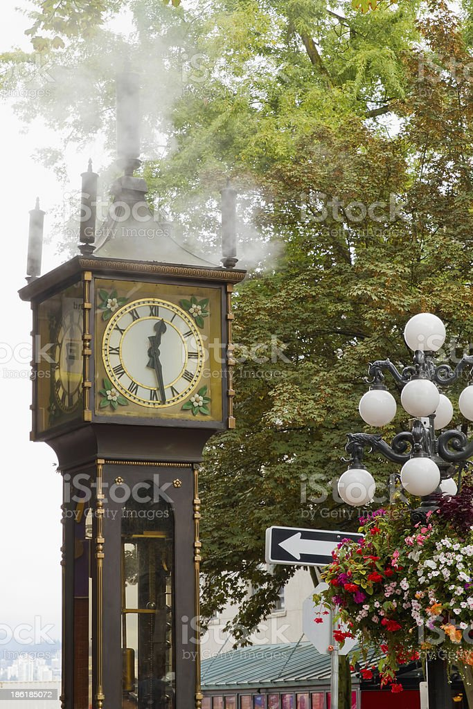 Vancouver BC Historic Gastown Steam Clock stock photo