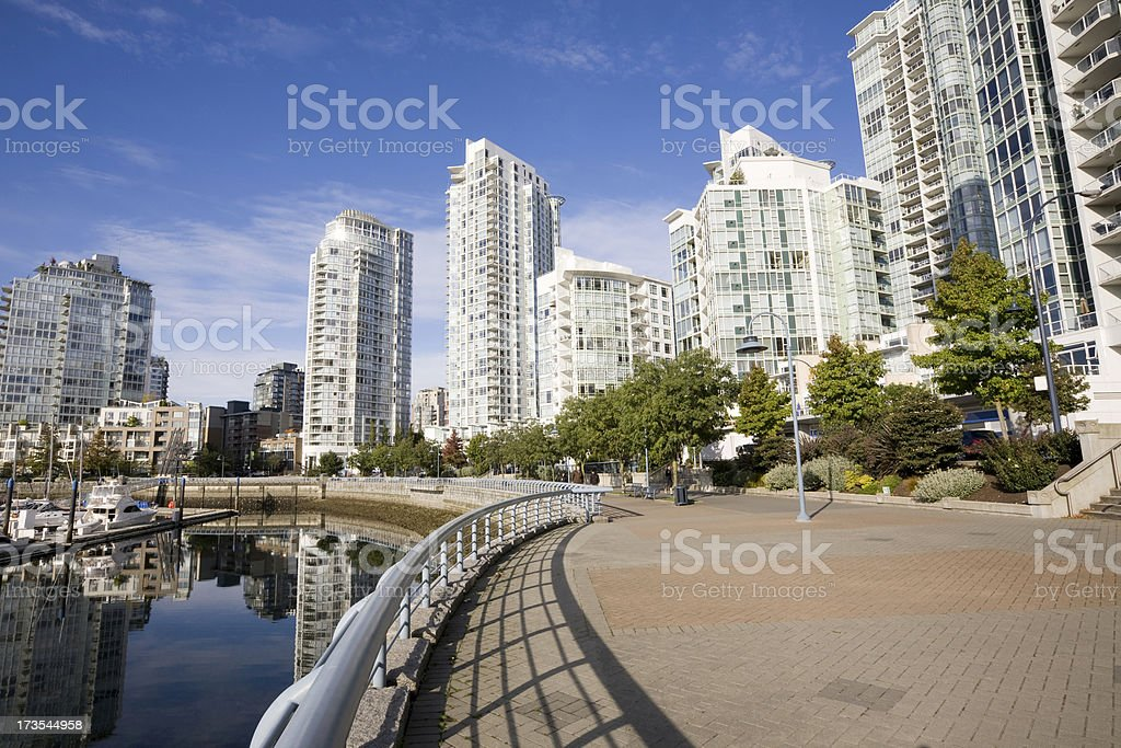Vancouver, Chic neighborhood, Luxury Apartments royalty-free stock photo