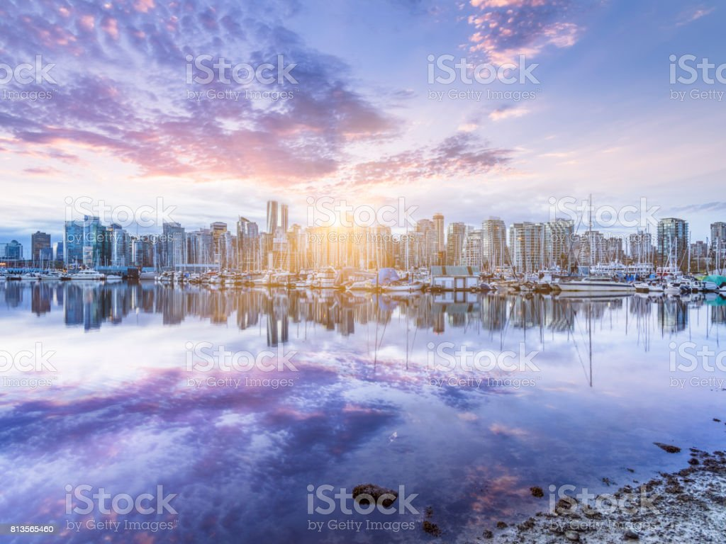 vancouver city downtown skyline,Canada.