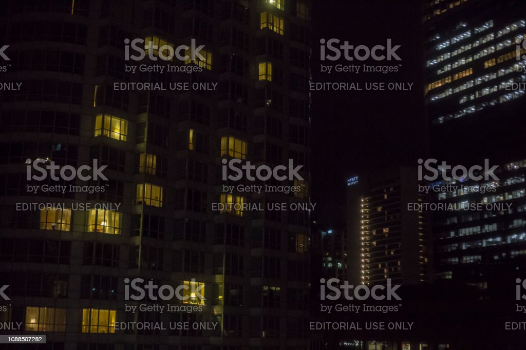 Vancouver, Canada - December 29, 2018. Skyscrapers in Vancouver at...