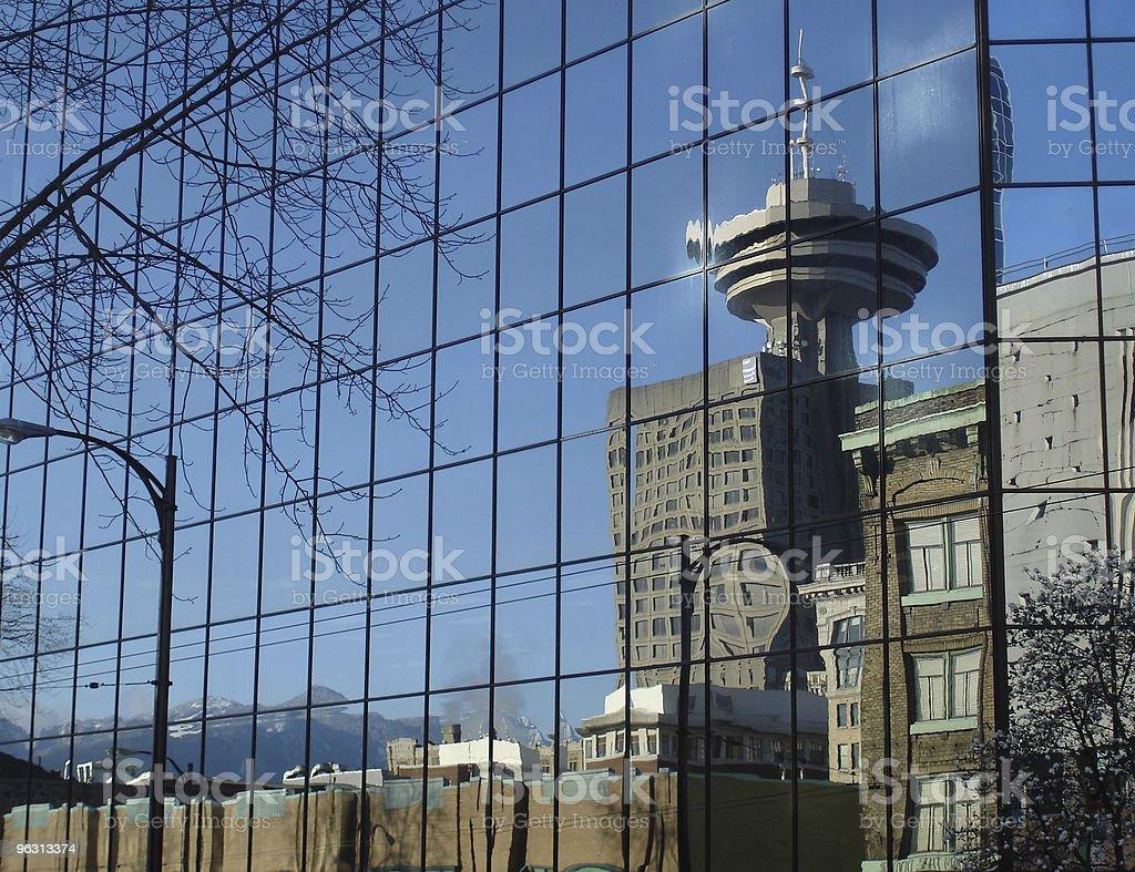 Vancouver City Reflection royalty-free stock photo