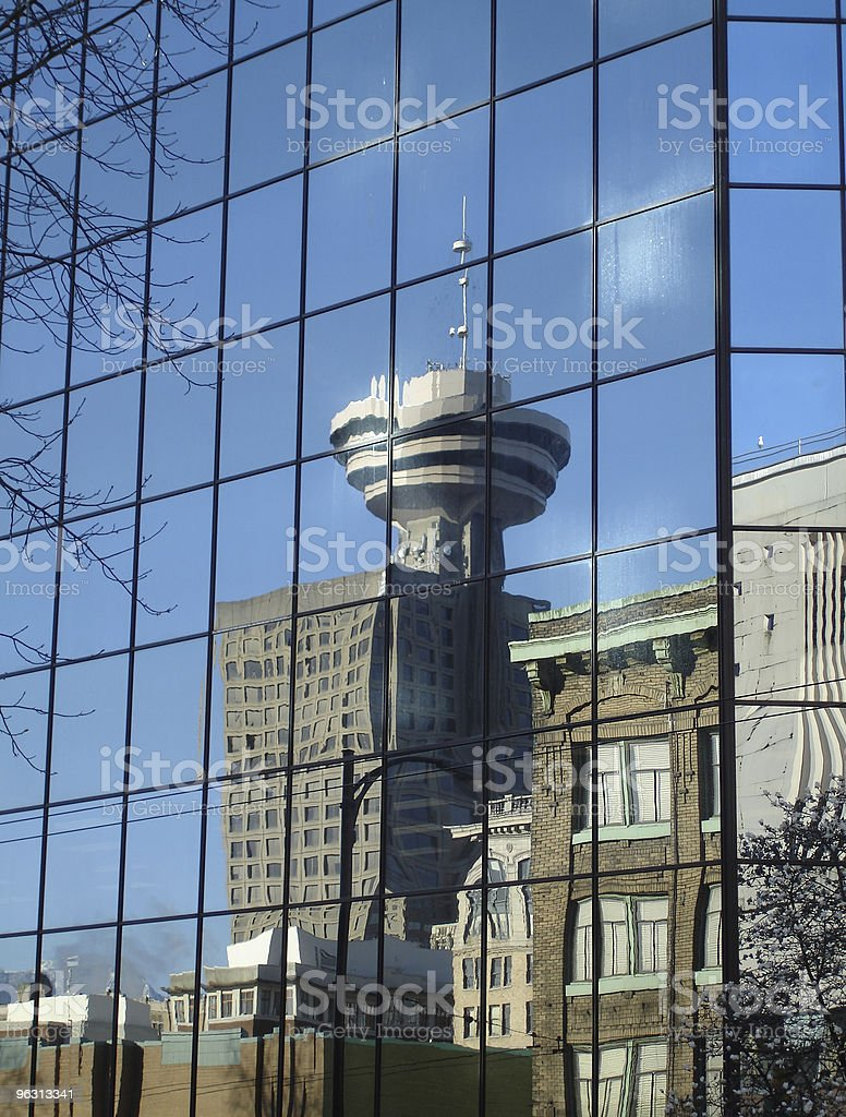 Vancouver City Reflection vertical