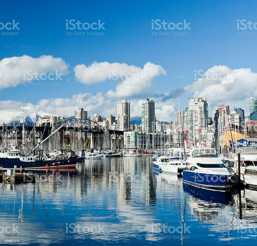 Vancouver City Skyline in Canada stock photo