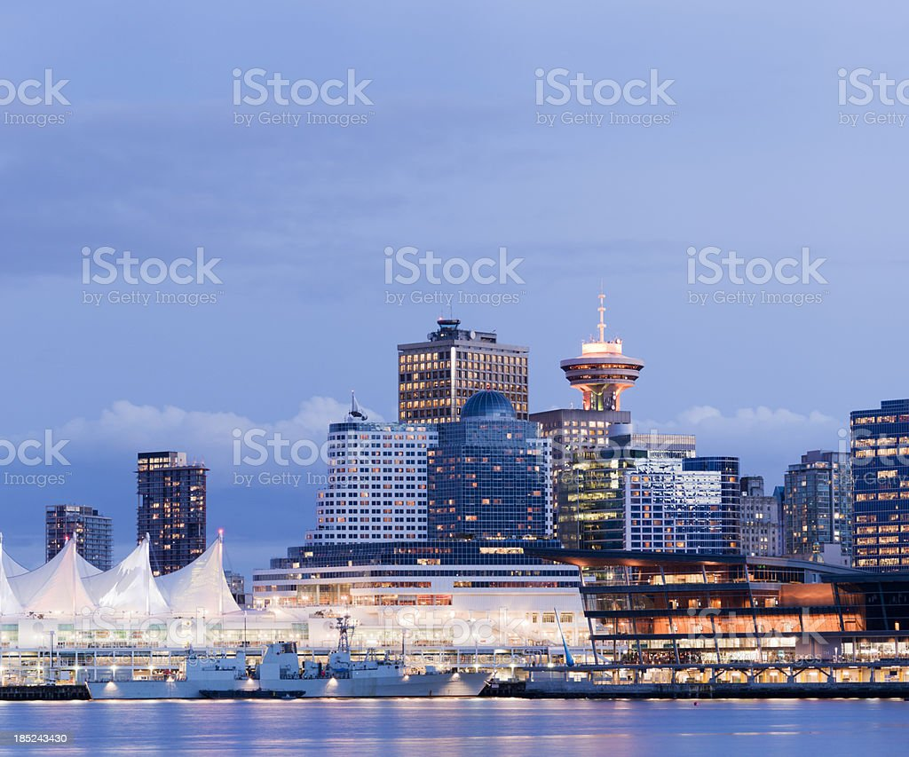 Vancouver City Skyline in Canada royalty-free stock photo