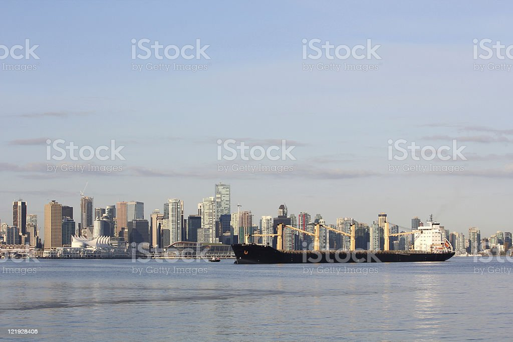 Vancouver Cityscape, Burrard Inlet stock photo