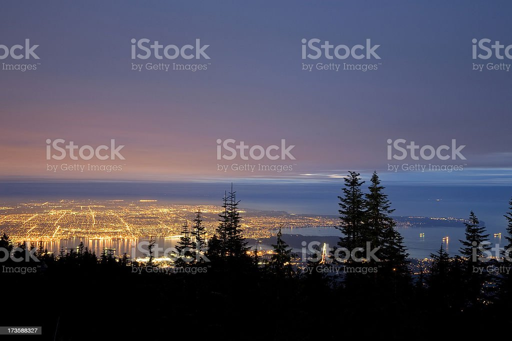 Stadtbild von Vancouver vom Grouse Mountain – Foto