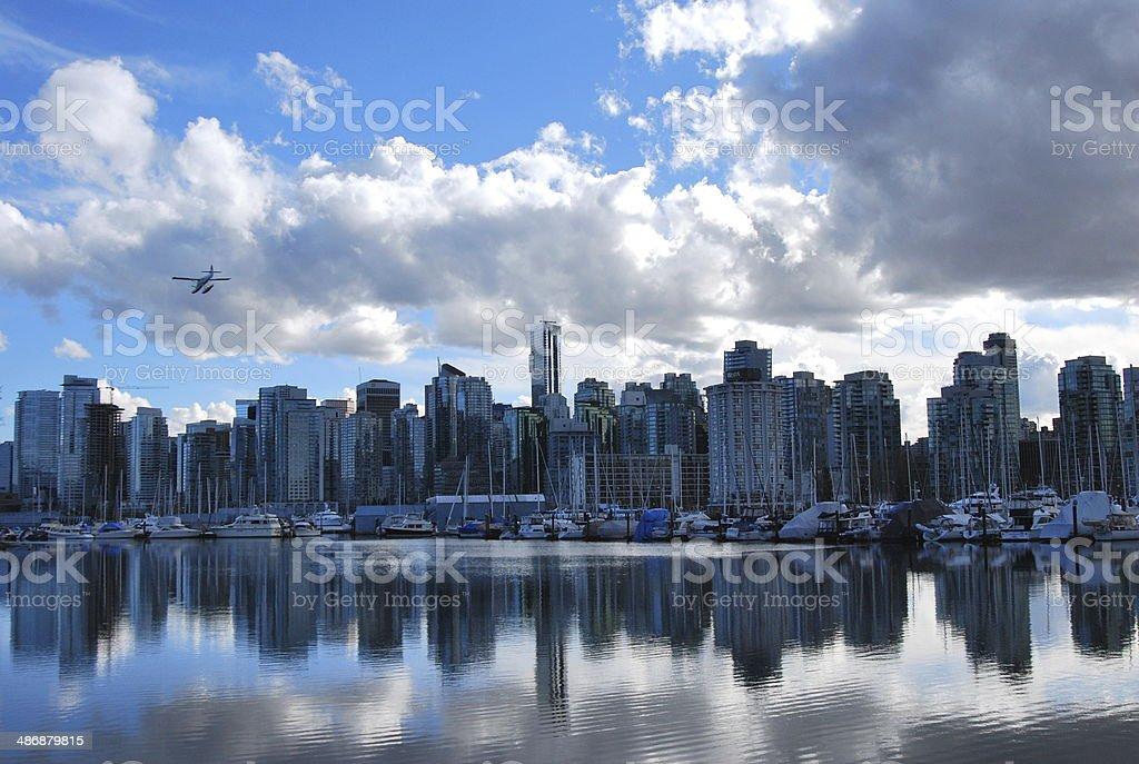 Vancouver Cityscape Near Stanley Park stock photo