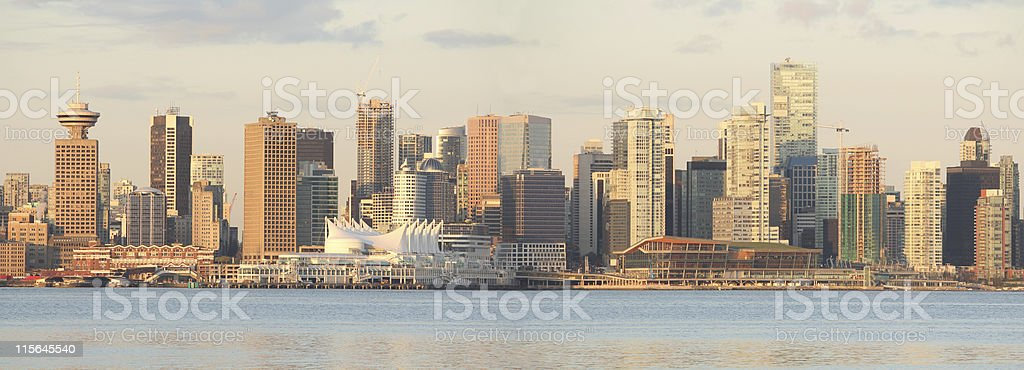 Vancouver Cityscape Panorama stock photo
