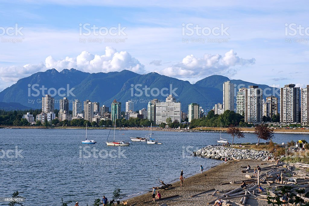 Vancouver coastline stock photo