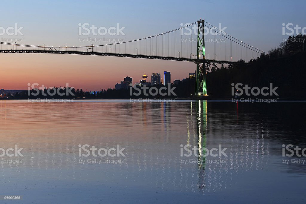 Vancouver Dawn royalty free stockfoto