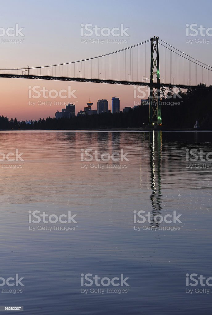 Vancouver Dawn vertical royalty-free stock photo