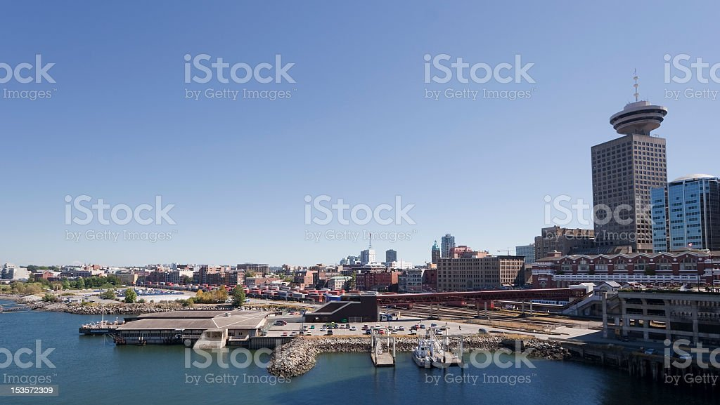 Vancouver Downtown and Coal Harbor stock photo