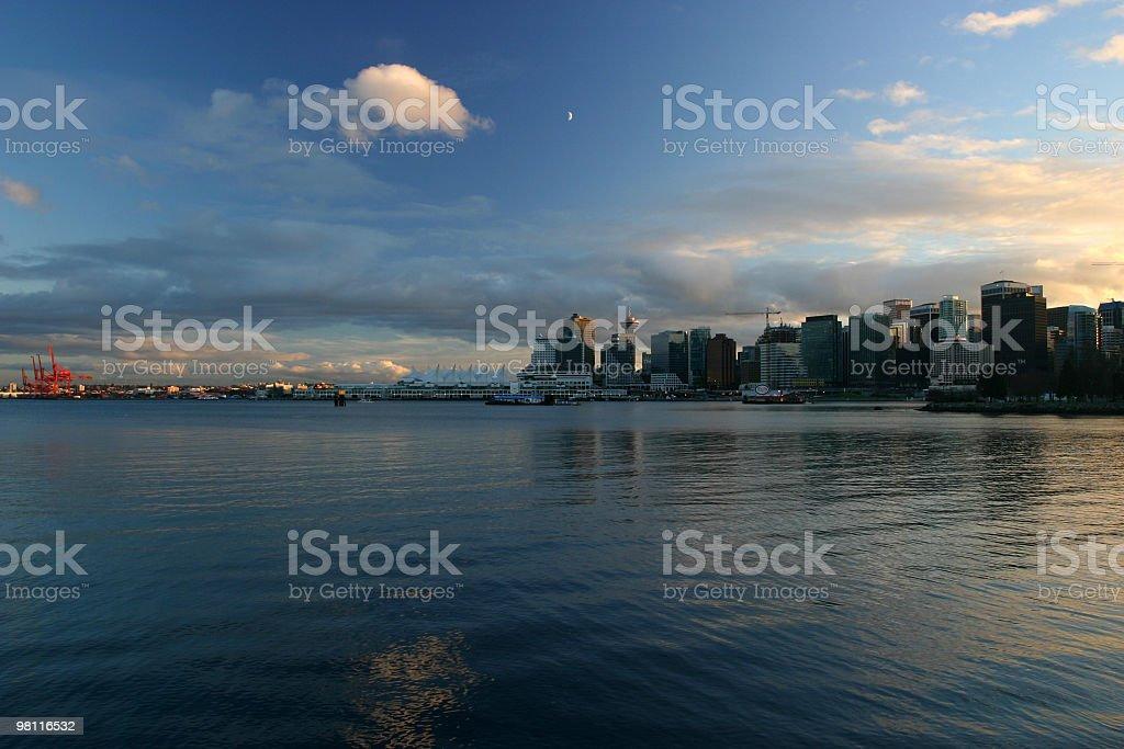 Vancouver Downtown Skyline Near Sunset royalty-free stock photo