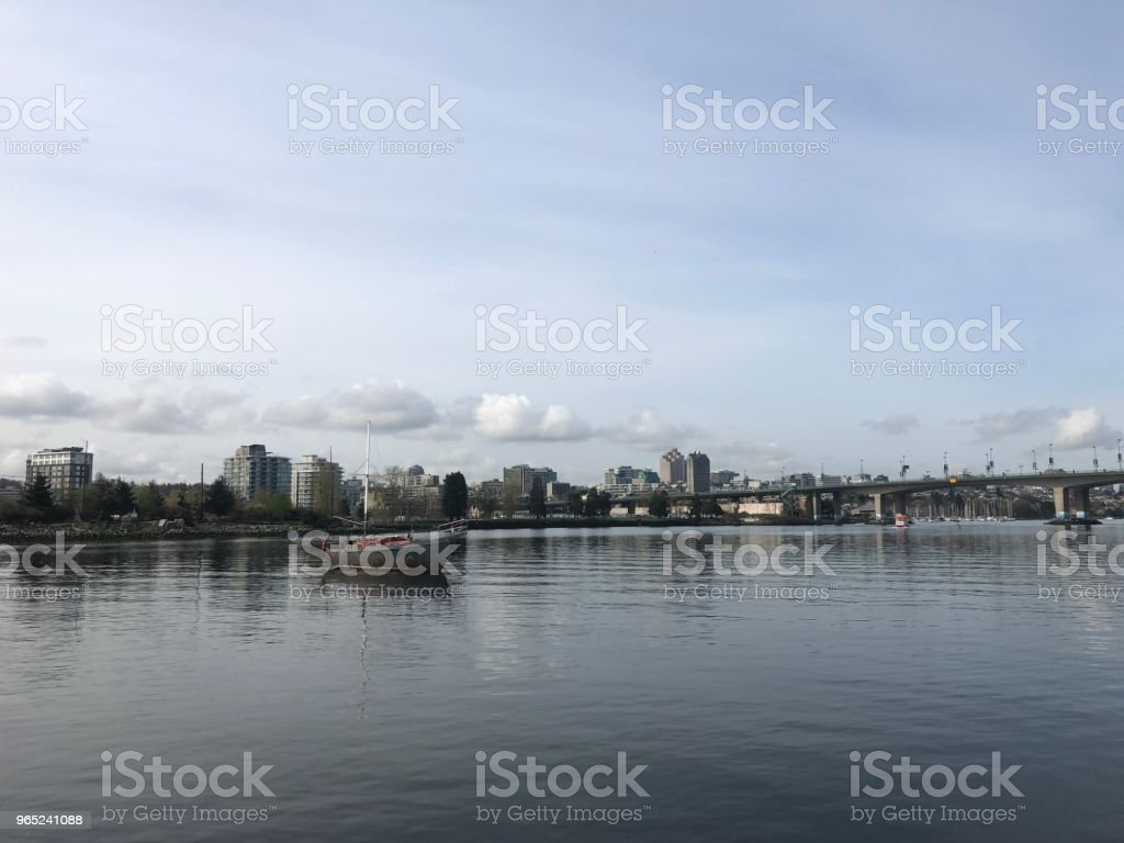 Vancouver False Creek On A Cloudy Day royalty-free stock photo