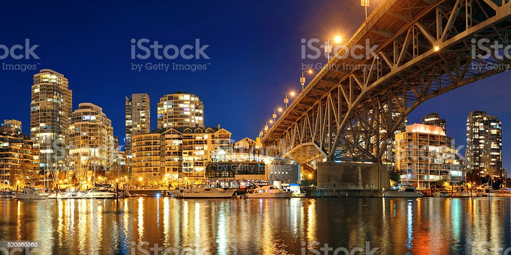 Vancouver False Creek stock photo