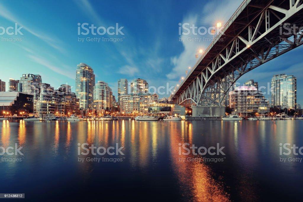 Vancouver False Creek stock photo