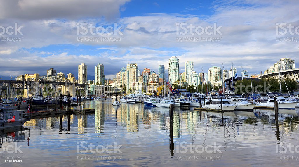Vancouver Harbor Panorama, British Columbia, Canada royalty-free stock photo