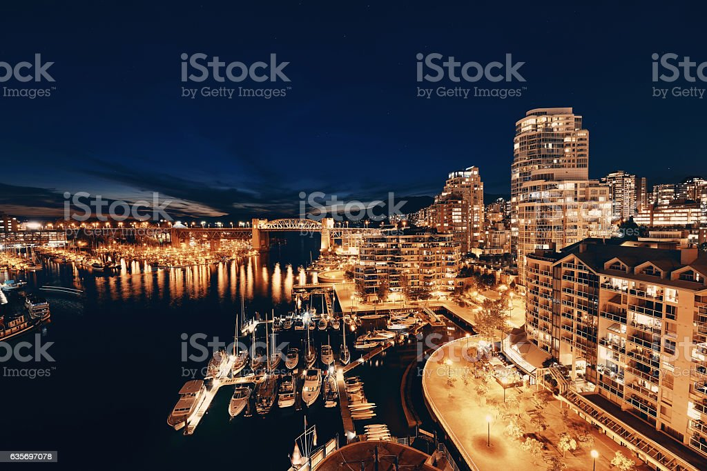 Vancouver harbor view stock photo