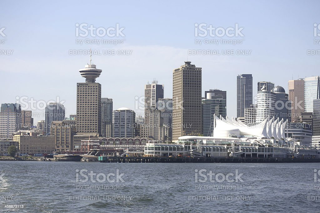 Vancouver Harbour and Downtown Waterfront by Burrard Inlet royalty-free stock photo
