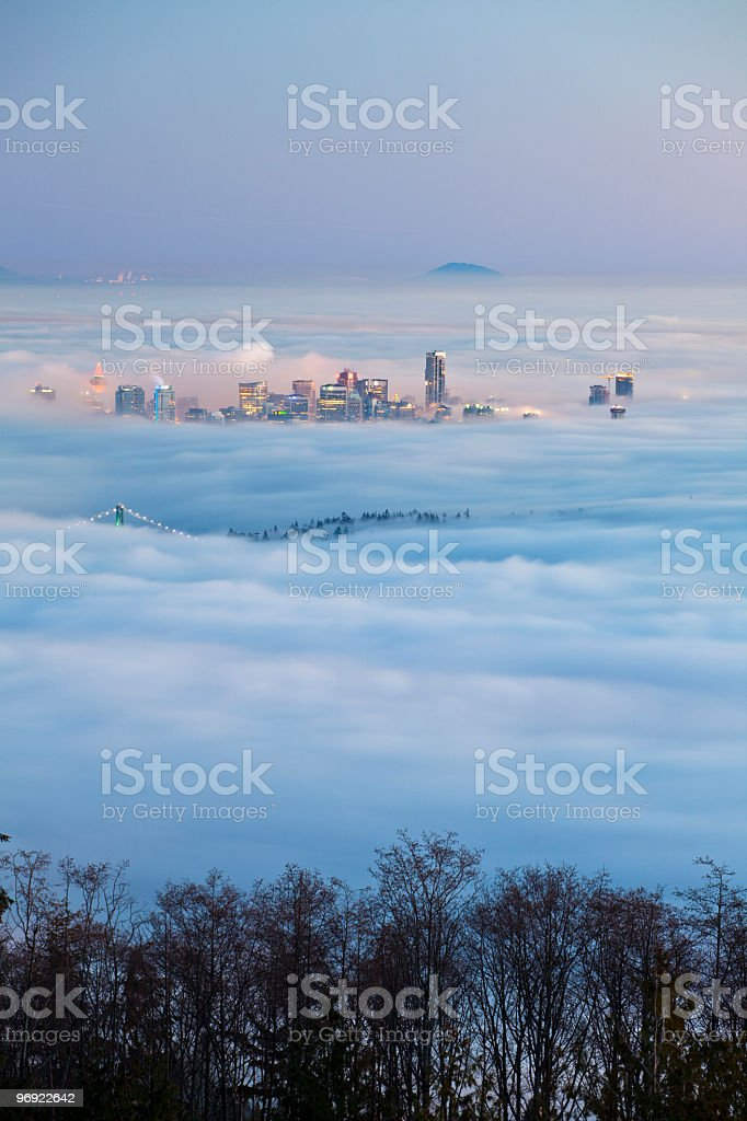 Vancouver in the Fog royalty-free stock photo