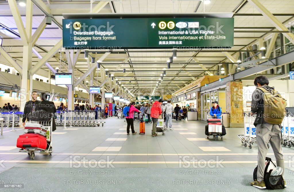 Vancouver International Airport (YVR)in Canada. stock photo