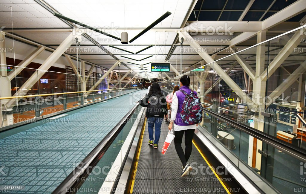Vancouver International Airport (YVR) in Canada. stock photo