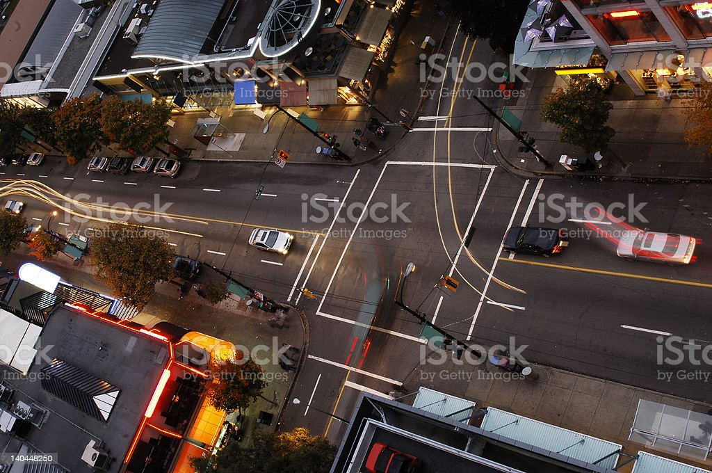 Vancouver Intersection royalty-free stock photo