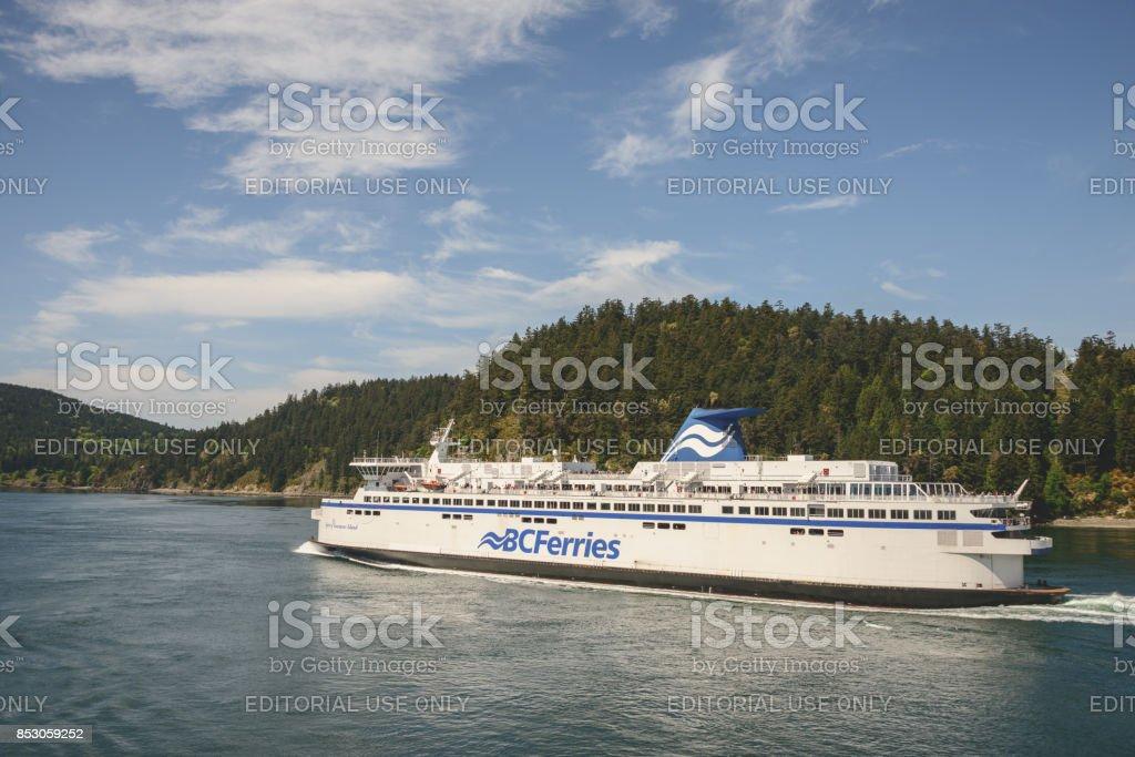 Vancouver Island ferry stock photo