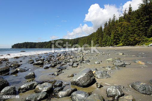 China beach located along the west coast of Vancouver Island.