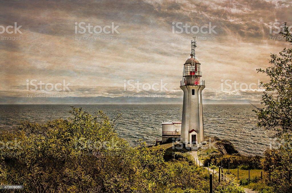 Vancouver Island Shirley Lighthouse British Columbia Sooke stock photo
