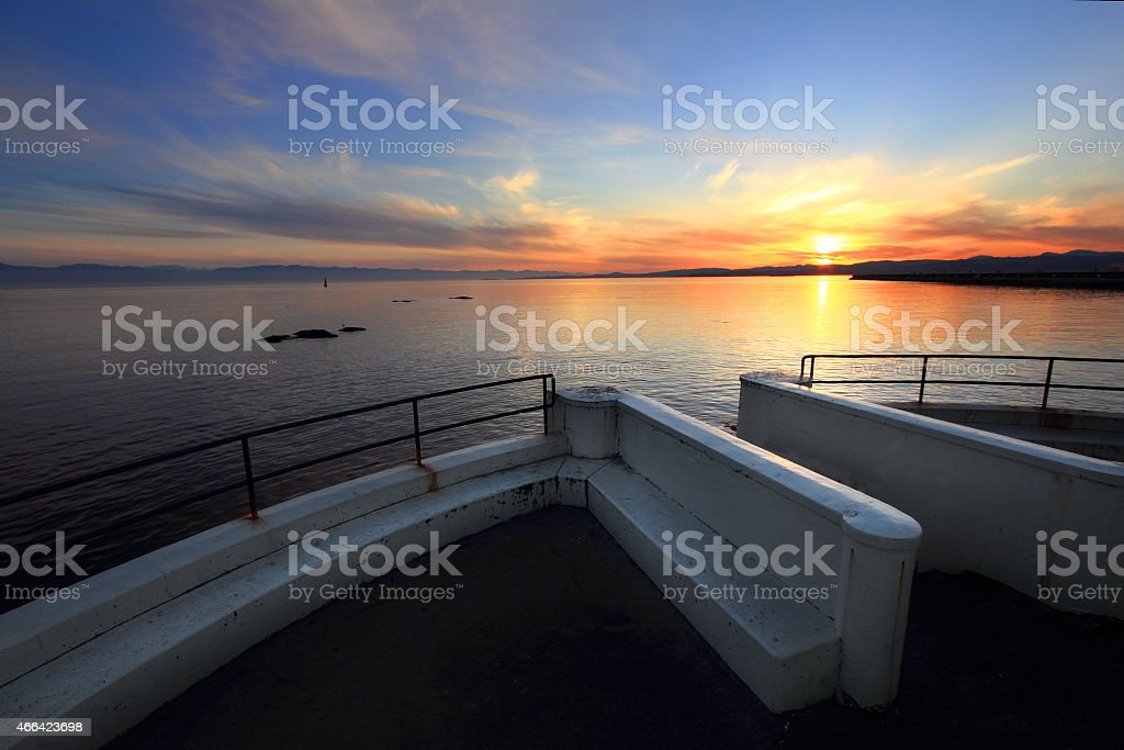 Vancouver Island Sunset stock photo