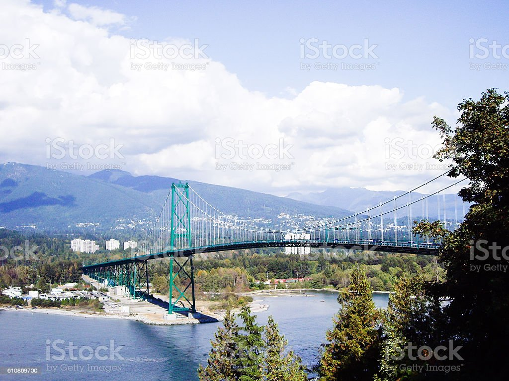 Vancouver- Lions Gate Bridge, British Columbia,Canada stock photo