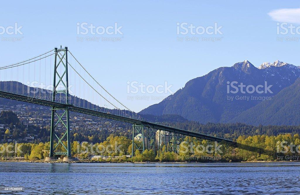 Vancouver Lions Gate Bridge stock photo