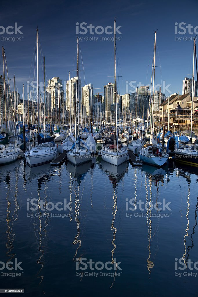 Vancouver Marina and Waterfront stock photo