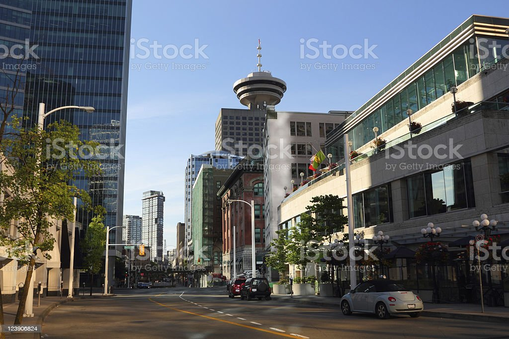 Vancouver Morning Street View stock photo