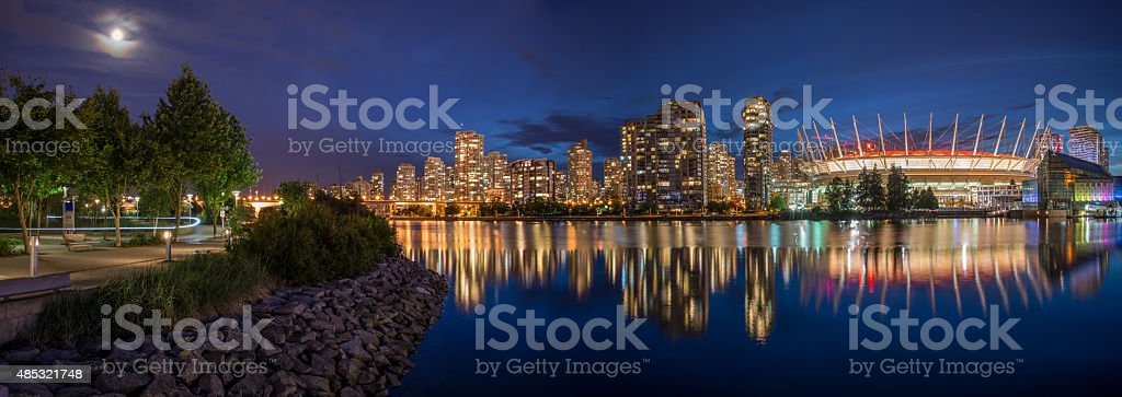 Vancouver Night Scene stock photo