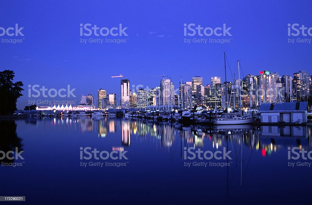 vancouver nights royalty-free stock photo