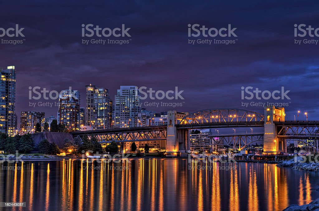Vancouver Nightscape royalty-free stock photo