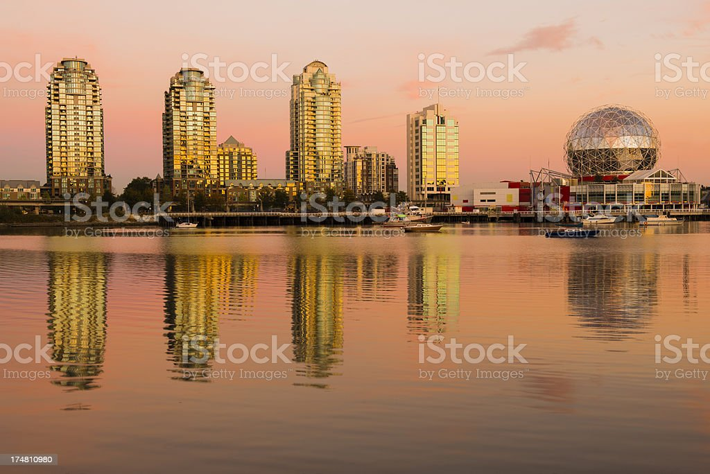 Vancouver Panorama at Sunset stock photo