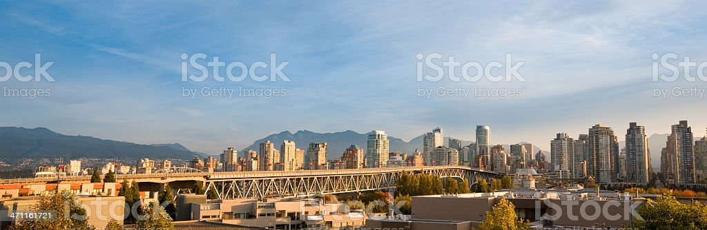 Vancouver Panorama, Canada stock photo