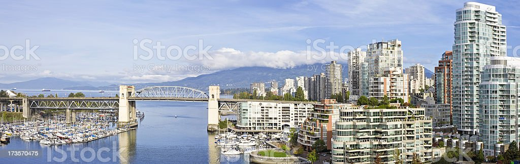 Vancouver Panorama stock photo