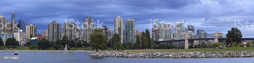 Vancouver panorama stock photo