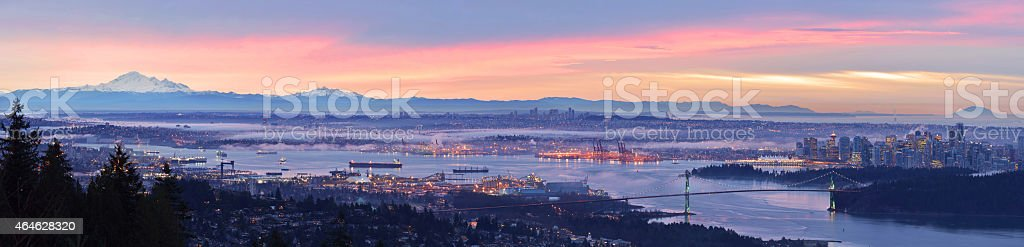 Vancouver Panoramic Cityscapes stock photo